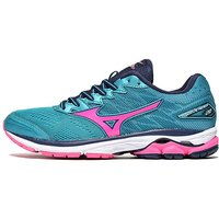 Mizuno Wave Rider 20 Womens - Teal/Pink - Womens