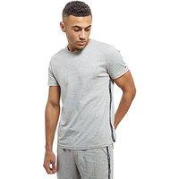 Tommy Hilfiger Logo Tape Short Sleeve T-Shirt - Grey - Mens