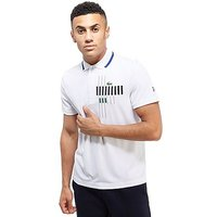 Lacoste Novak Stripe Chest Polo - White - Mens