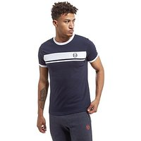 Sergio Tacchini Master Panel T-Shirt - Navy/White - Mens