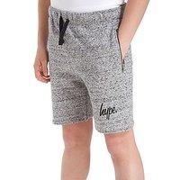Hype Zip Pocket Shorts Junior - Grey Marl - Kids