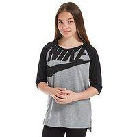 Nike Girls Lounge T-Shirt Junior - Dark Grey/Black - Kids