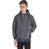 Ellesse Mustri Quilted Jacket Junior - Grey/Navy - Kids