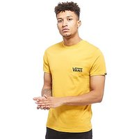 Vans Off The Wall Chest Pocket T-Shirt - Yellow/Black - Mens