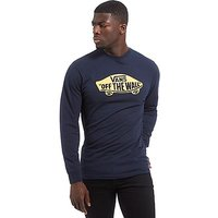 Vans Off The Wall Long Sleeve T-Shirt - Navy/Yellow - Mens