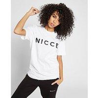 Nicce Boyfriend Logo T-Shirt - White - Womens