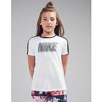 Nike Girls Dri-FIT T-Shirt Junior - White/Black - Kids