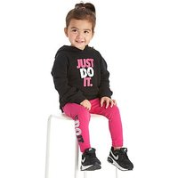 Nike Girls Just Do It Hoodie/Leggings Set Infant - Black/Pink - Kids