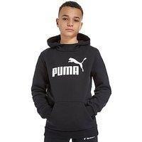 PUMA Core Logo Overhead Hoodie Junior - Black/White - Kids