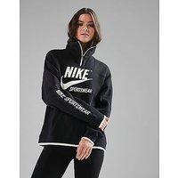 Nike Archive 1/2 Zip Track Top - Black - Womens