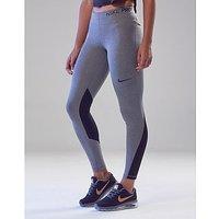 Nike Pro Leggings - Grey/Black - Womens