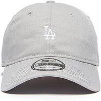 New Era 9Forty LA Dodgers Mini Logo Baseball Cap - Grey - Mens