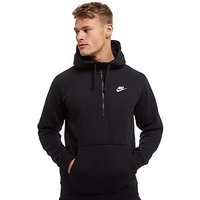 Nike Club Half-Zip Hoodie - Black - Mens