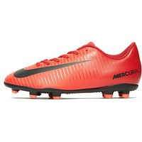 Nike Fire and Ice Mercurial Vortex FG Junior - Red - Kids