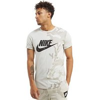 Nike Camo Split T-Shirt - White - Mens