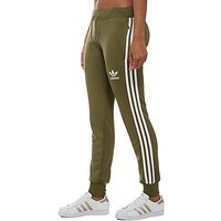adidas Originals 3 Stripe Track Pants - Khaki/White - Womens