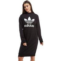 adidas Originals High Neck Trefoil Dress - Black/White - Womens