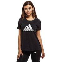 adidas Mesh Logo T-Shirt - Black/White - Womens