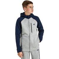 adidas Hybrid Hoodie Junior - Grey/Navy - Kids