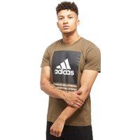 adidas 3-Stripes Box T-shirt - Only at JD - Khaki - Mens, Khaki