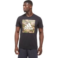 adidas 3-Stripe Box T-shirt - Only at JD - Dark Grey/Dark Grey - Mens, Dark Grey/Dark Grey