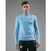 Nike Manchester City FC Squad Drill Football Top - Blue - Mens
