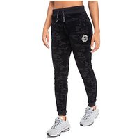 Supply & Demand Velour Camo Tracksuit Bottoms - Black - Womens