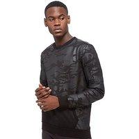 Supply & Demand Tonal Crew Neck Sweatshirt - Black - Mens