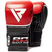 RDX INC Quad-Kore Leather Training Gloves - Red - Mens