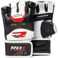RDX INC Gel Training Grappling Gloves - Black/White - Mens