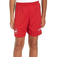 Joma Swansea City FC 2017/18 Away Shorts Junior - Red - Kids