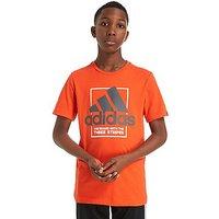 adidas Country T-Shirt Junior - Orange/Grey/White - Kids