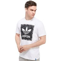 adidas Originals Trefoil Camo Box T-Shirt - White/Black - Mens