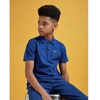 Lacoste Logo Polo Shirt Junior - Blue Marino - Kids