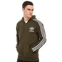 adidas Originals California Full Zip Hoodie - Green/White - Mens