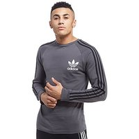 adidas Originals California Long Sleeve T-Shirt - Grey/Black - Mens