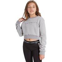 Sonneti Girls Link Crew Sweatshirt Junior - Grey - Kids