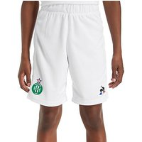 Le Coq Sportif AS Saint Etienne 2017/18 Home Shorts Junior - White - Kids