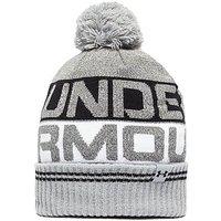 Under Armour Retro Pom 2.0 Beanie Hat - Grey/Black - Mens