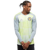 adidas Scotland 2018 Home Goalkeeper Shirt - Grey/Light Yellow - Mens