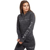 Pink Soda Sport Space Dye Half Zip Hoodie - Grey - Womens