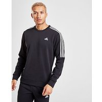 adidas Essential Crew Neck Sweatshirt   Black   Mens