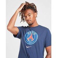 Nike Paris Saint Germain Crest T Shirt   Navy   Mens