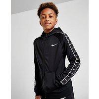 Nike Tape Poly Full Zip Hoodie Junior   Black   Kids