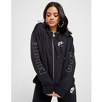 Nike Air Full Zip Crop Hoodie   Black   Womens