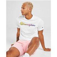 Champion Core Script T Shirt   White   Mens