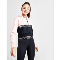 For laid back vibes, check out this junior girls' daisy 1/2 zip hoodie from sonneti. in a pink and black ...