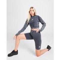 11 Degrees Acid Wash Cycle Shorts Damen - Grau - Womens, Grau