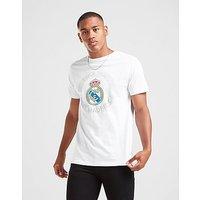 Official Team camiseta Real Madrid Crest Short Sleeve, White