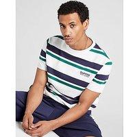 Duffer camiseta Louis Stripe, White/Blue/Green
